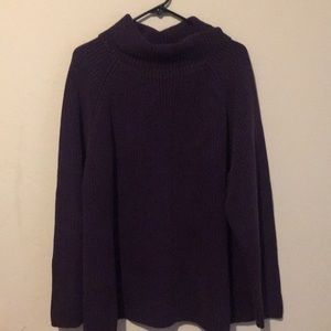 Lands end 100% cotton cabled cowl neck sweater 2X
